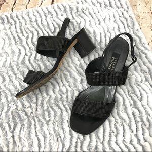 Stuart Weitzman Black Strap On sandals